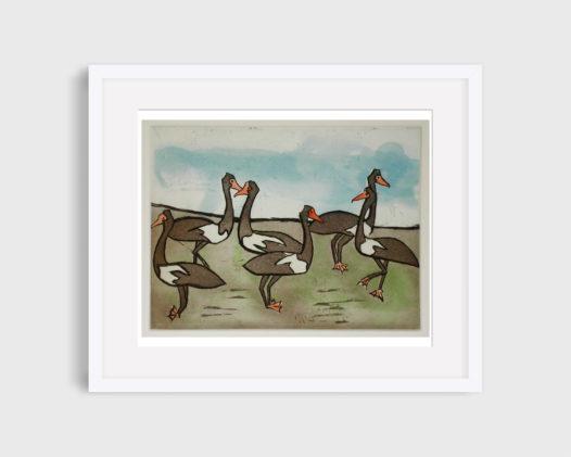 Banduk Marika – Magpie Geese