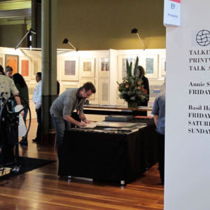 BHE and Buku Larrnggay stand at Art Melbourne