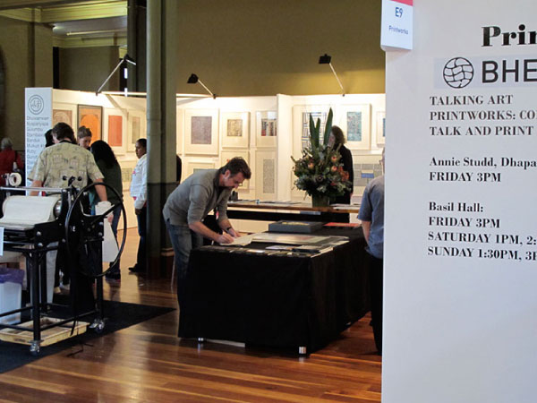 BHE and Buku Larrnggay stand at Art Melbourne